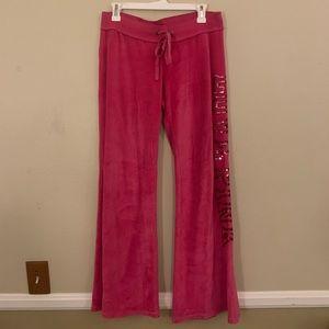 Victoria's Secret Pink Velour Sequin Sweats